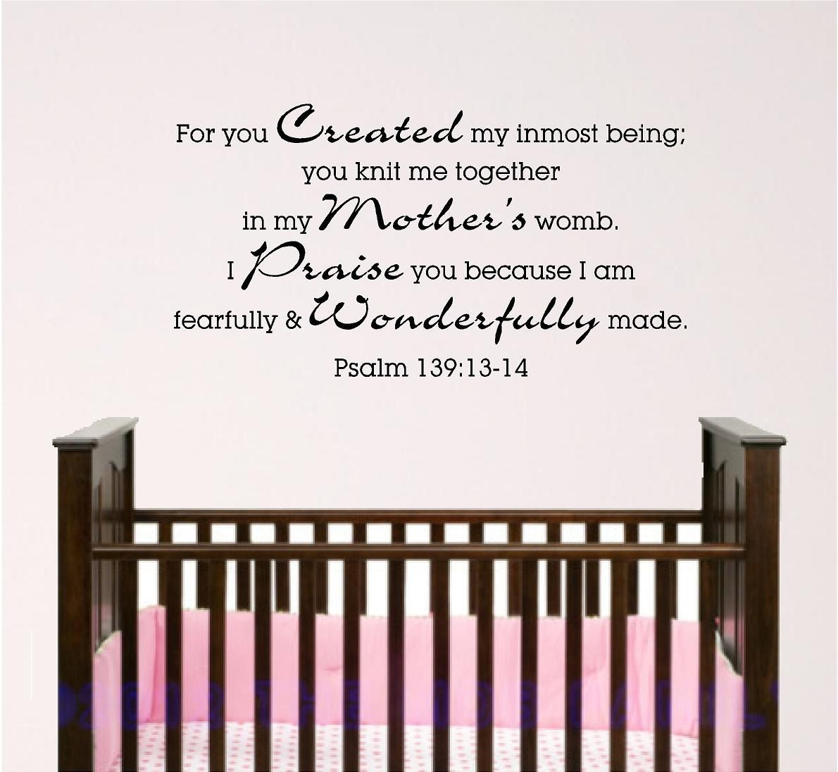 Nursery bible verse wall art psalm 139 4ft 2900 via etsy nursery bible verse wall art psalm 139 4ft 2900 via etsy amipublicfo Gallery