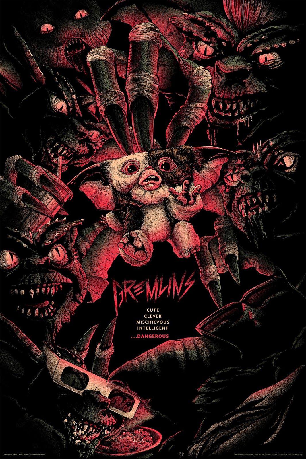 Gremlins Posters By Matt Ryan Tobin And Glen Brogan Release By Mondo Mondo Posters Movie Art Movie Posters