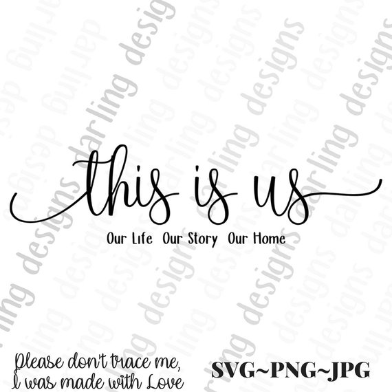 This is us custom length svg cut file for cricut and silhouette