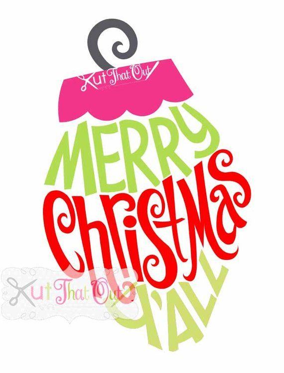 Merry Christmas Yall.Exclusive Merry Christmas Y All Ornament Design Svg Dxf
