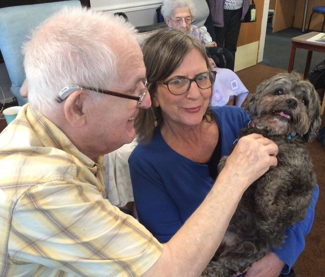 Pet therapy at Riversway - Riversway Care Home Bristol