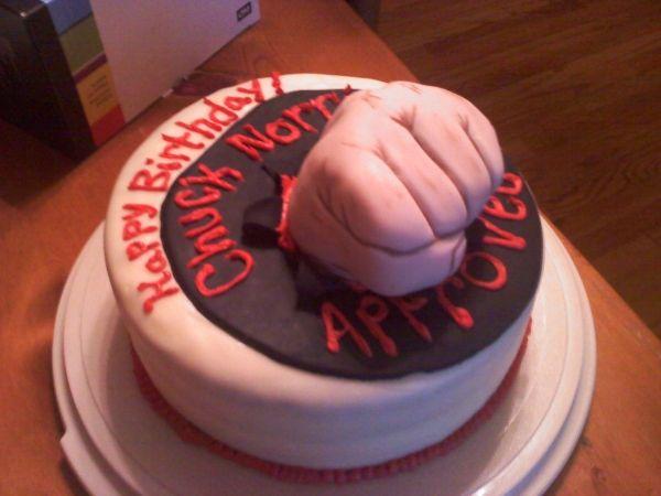 Remarkable Chuck Norris Cake Happy Birthday Chuck Cake Chuck Norris Birthday Funny Birthday Cards Online Alyptdamsfinfo
