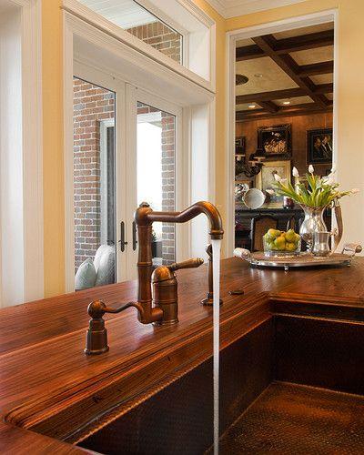 Copper Farmhouse Sink With Wood Countertop I Wantttt Copper