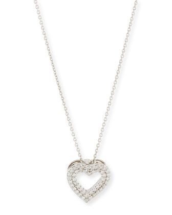 Roberto Coin Double-Row Diamond Heart Pendant Necklace puSpvvPmg2