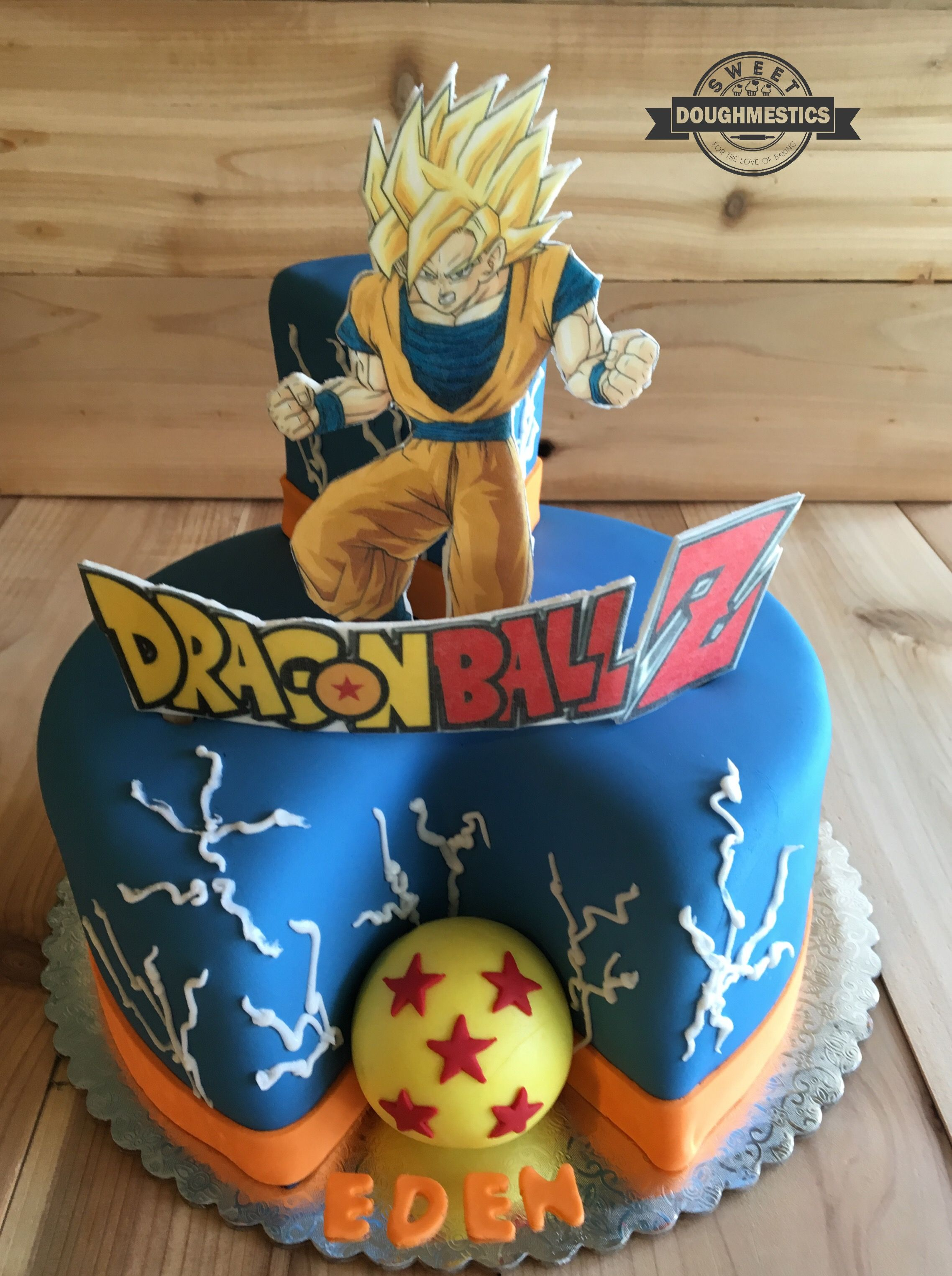 Dragon Ball Z Cake By Sweet Doughmestics With Images Goku