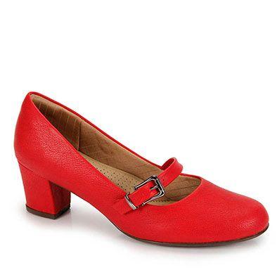 Sapato De Salto Baixo Piccadilly Feminino (linha Conforto