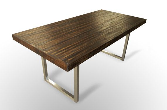 60x30 Contemporary Dining Table Harvest Dark By Unionfurnishings