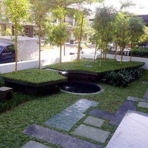 contoh taman minimalis depan rumah yang indah   taman