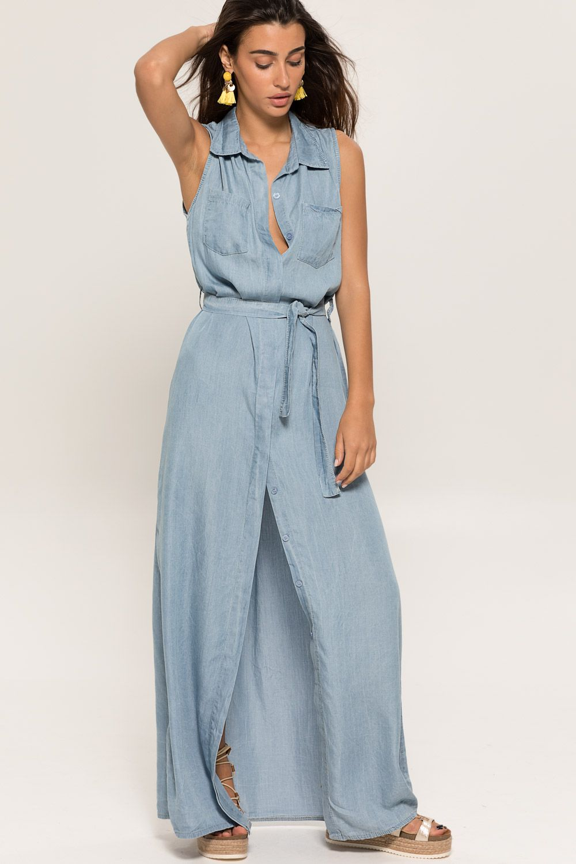 2019436c1643 Μακρύ τζιν φόρεμα