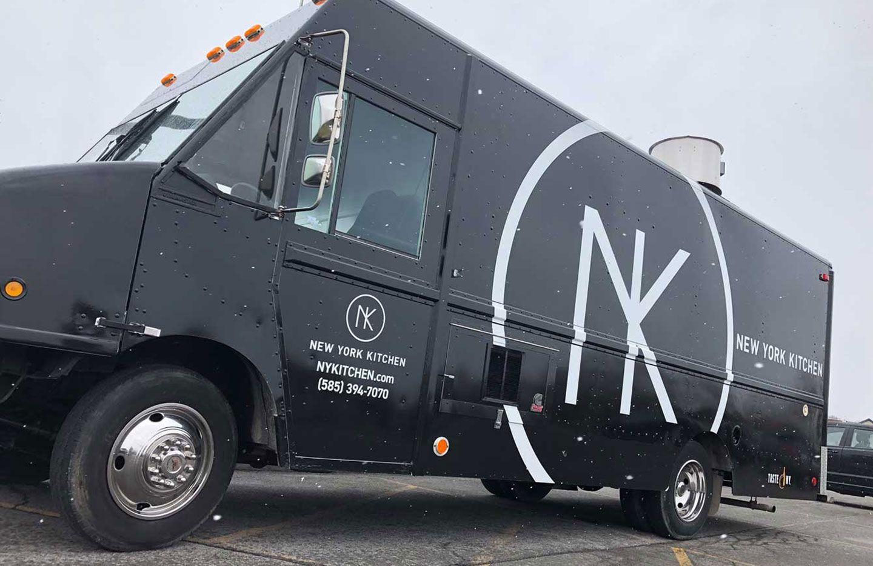 Cool branding on black food truck food truck black food
