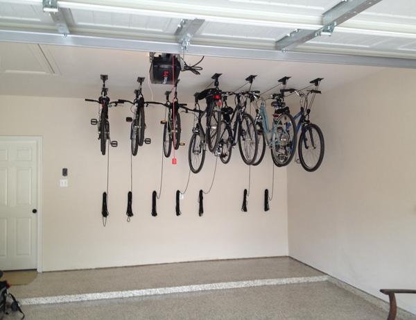 stilvolle lagerraum ideen f r ihre fahrr der fahrradaufh ngung fahrradlift fahrradgarage. Black Bedroom Furniture Sets. Home Design Ideas