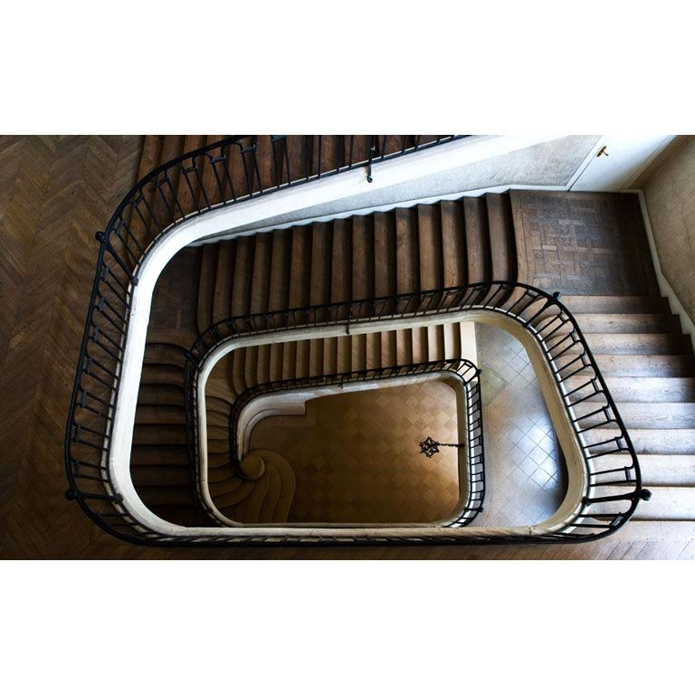 """Lucee Charlemagne Staircase, Down View"""" And It Is From"""
