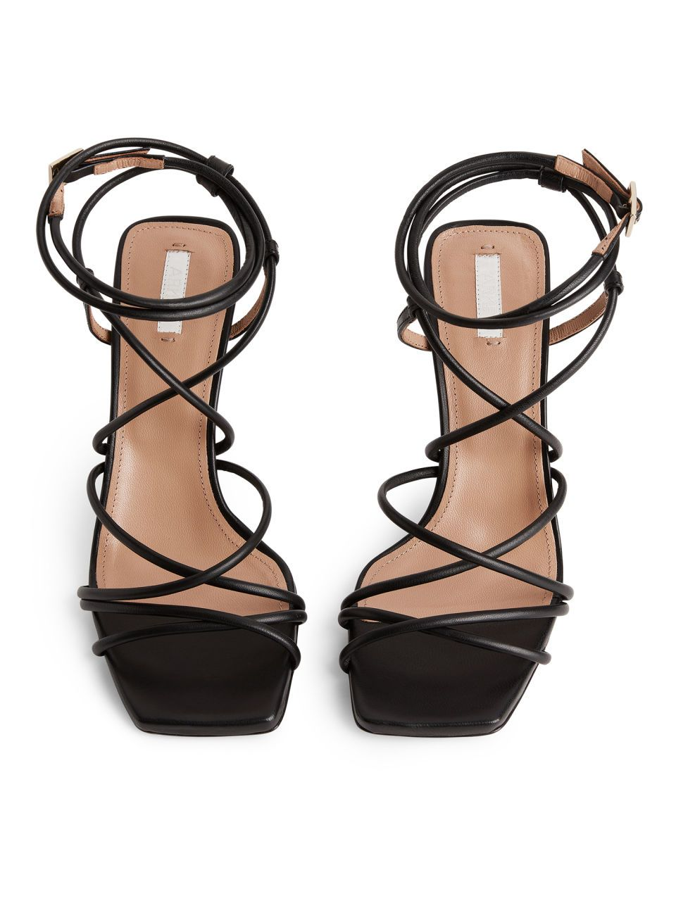 da6fa6c8511 High-Heel Leather Strap Sandal - Black - Shoes in 2019 | 200 ...