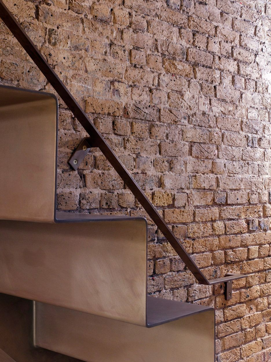 Best Atomised Brass Finish • Folded Steel Staircase • Lansdowne 400 x 300