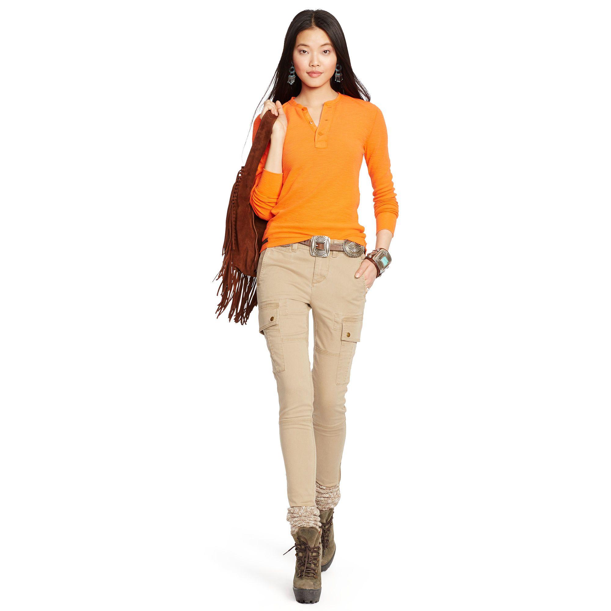 99843a16e637 Polo Ralph Lauren Stretch Twill Cargo Pant in Brown (Saranac Tan ...