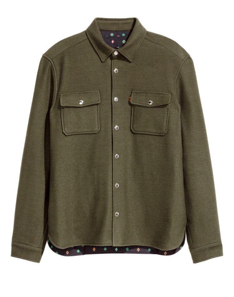 1d5dba82 NWT Kenzo x H&M Wool-blend Shirt Jacket Size M/Medium - Khaki Green #medium  #khaki #green #size #jacket #wool #blend #shirt #kenzo