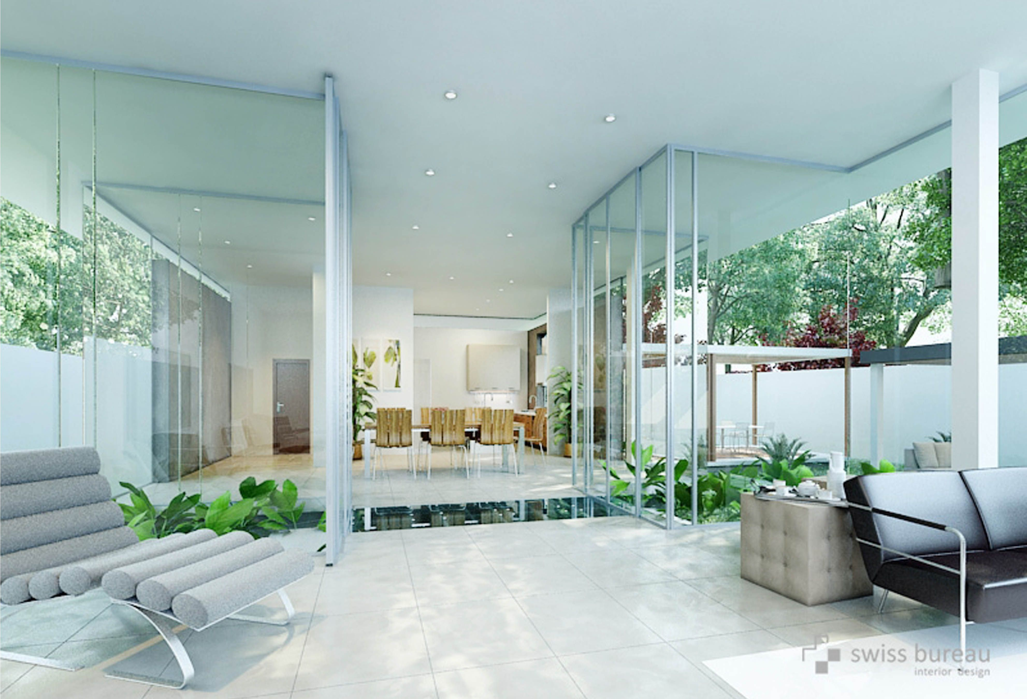 Modern villa interior designed by swiss bureau interior for Best modern villa designs