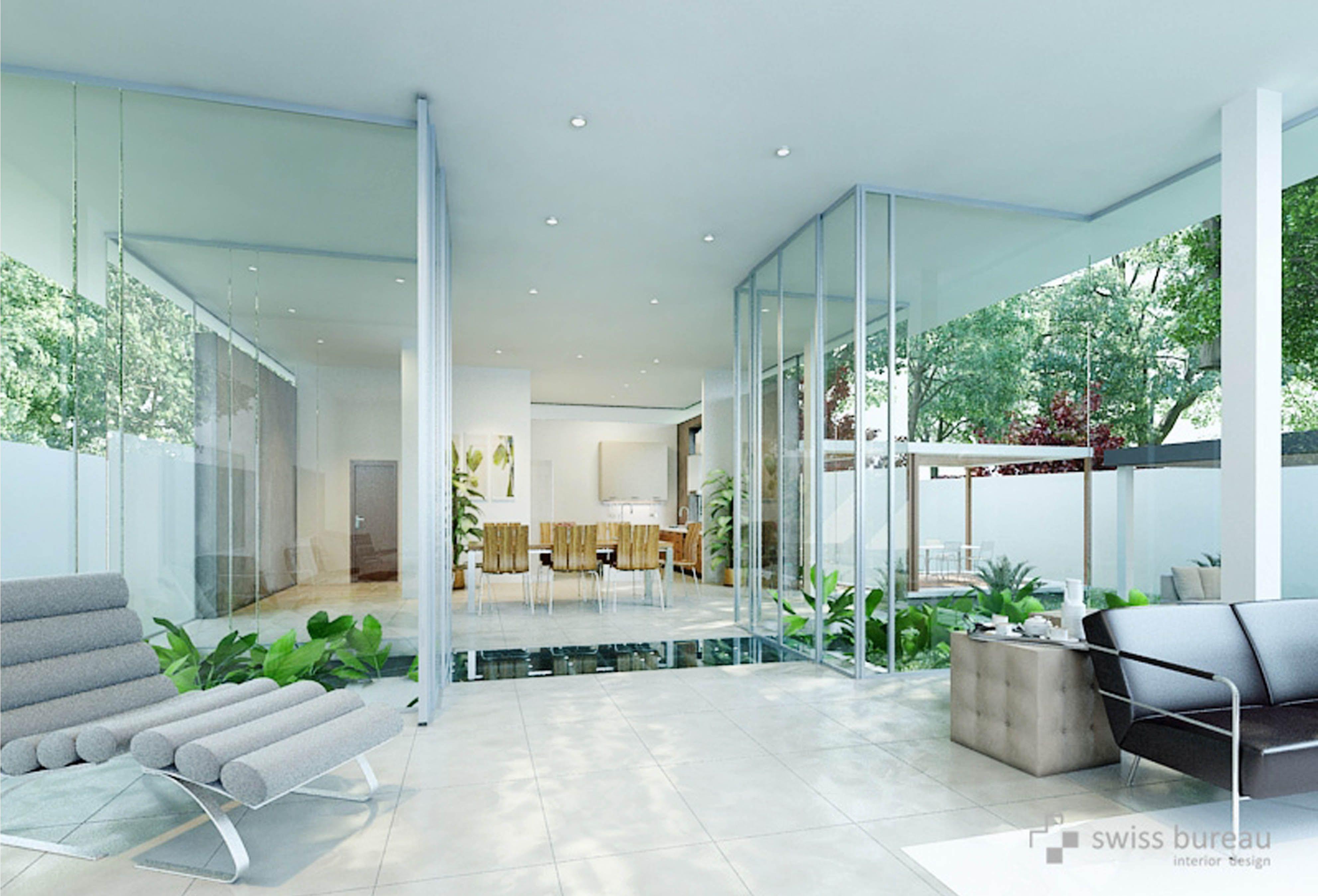 Modern villa interior designed by swiss bureau interior design llc