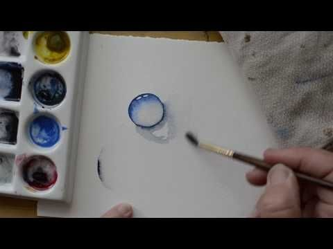 A Beginner S Guide To Painting Water Drops In Watercolor Youtube