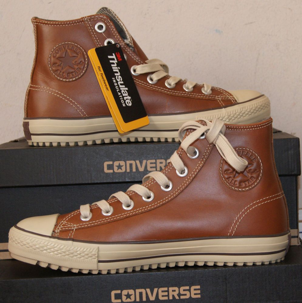 STAR CHUCK TAYLOR LEATHER BOOT PINECONE