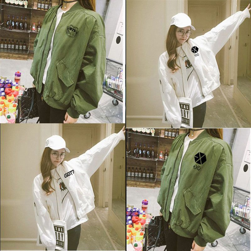 Details about KPOP BTS Jung Kook Coat GOT7 Varsity Jacket
