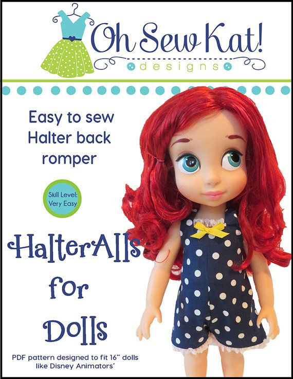 Animators Doll Clothes Sewing Pattern fits 16 inch Princess dolls ...
