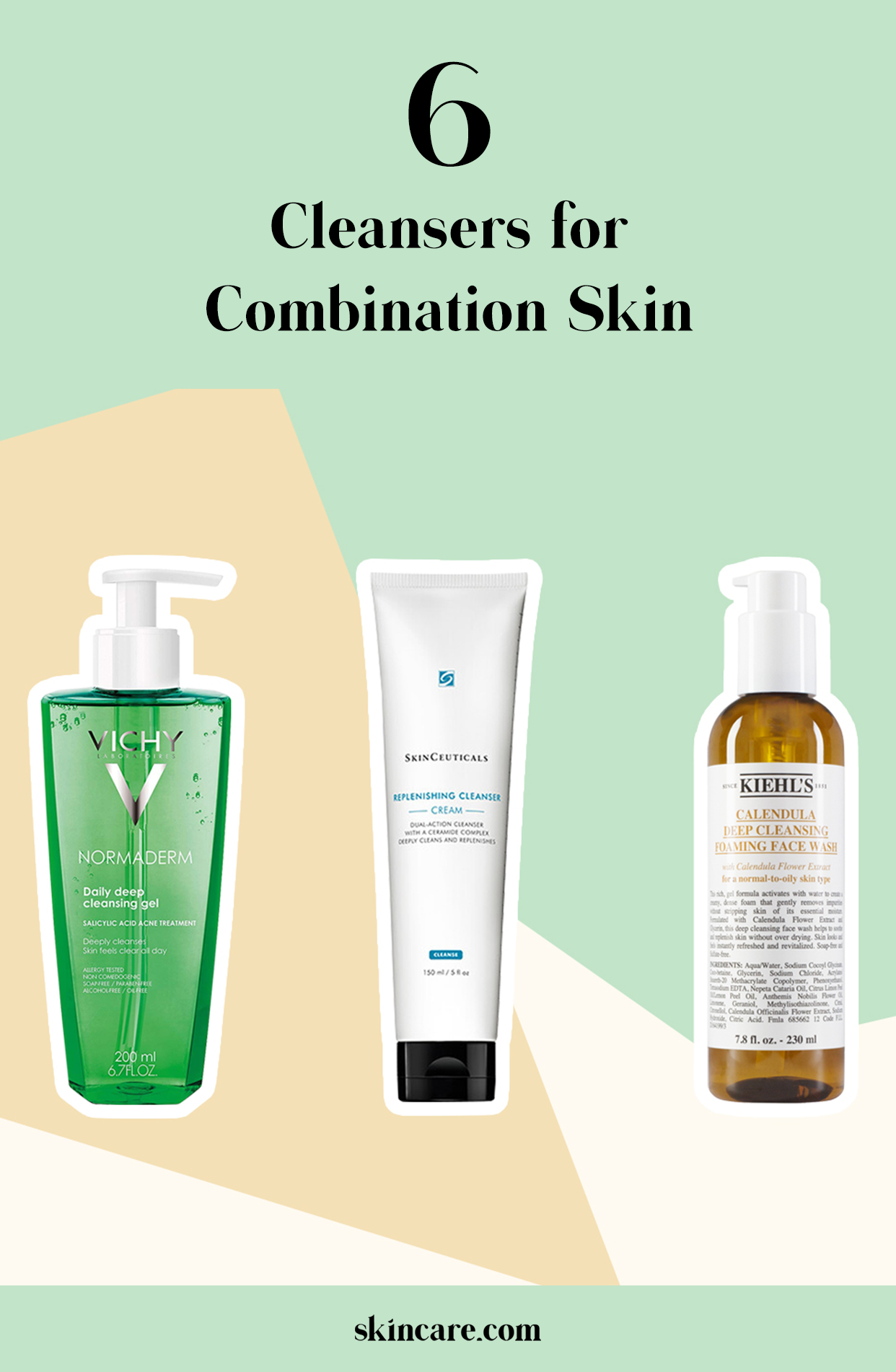 6 Cleansers For Combination Skin Skincare Com By L Oreal In 2020 Cleanser For Combination Skin Combination Skin Face Wash Skin Cleanser Products