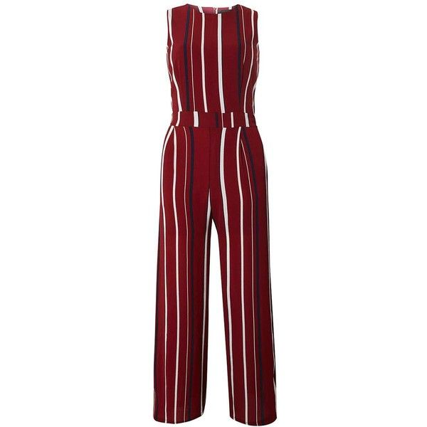 d54d691786b   Tenki Maroon Striped Jumpsuit ( 35) ❤ liked on Polyvore featuring  jumpsuits