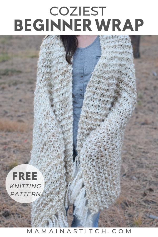 Photo of Beginner Blanket Scarf Free Knitting Pattern – Sedona Shawl