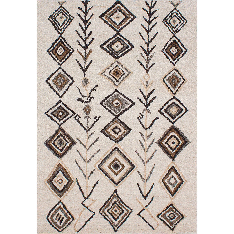 ecarpetgallery La Morocco Ivory Area Rug Shag