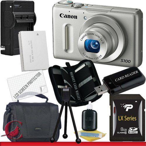 Canon Powershot S100 Digital Camera Silver 8gb Package 1 By Canon 376 92 Package Contents 1 Canon Powersh Memory Card Reader Digital Camera Card Reader