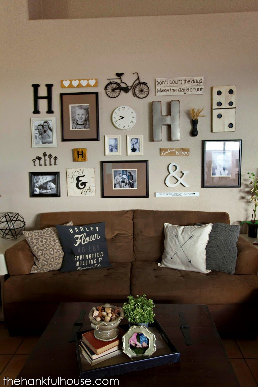 decorating living room walls with family photos carpet trends 2016 the hankful house neutral gallery wall home decor pinterest