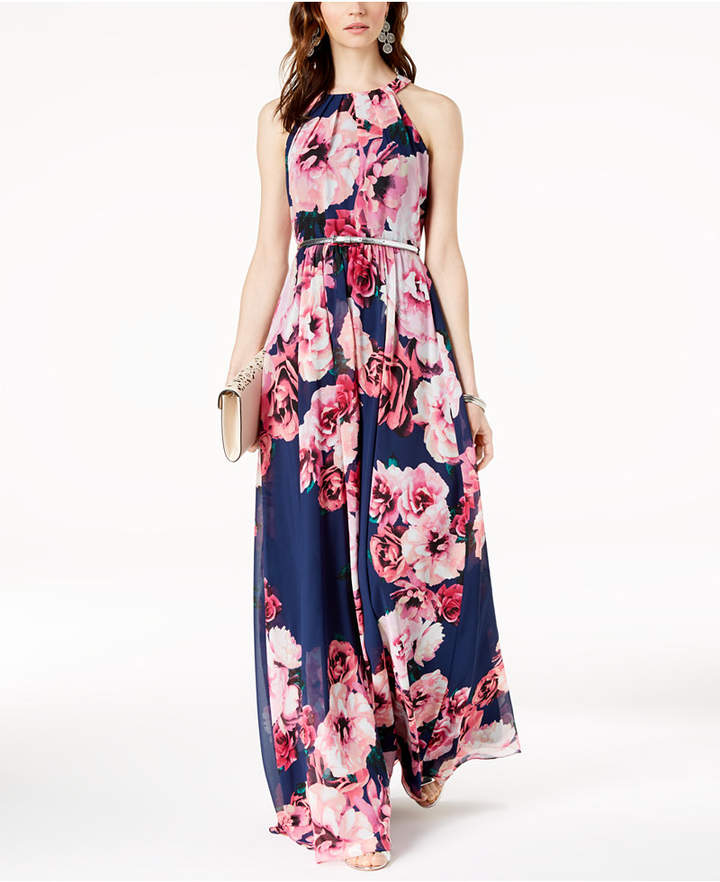 Inc Petite Belted Floral Print Maxi Dress Created For Macys