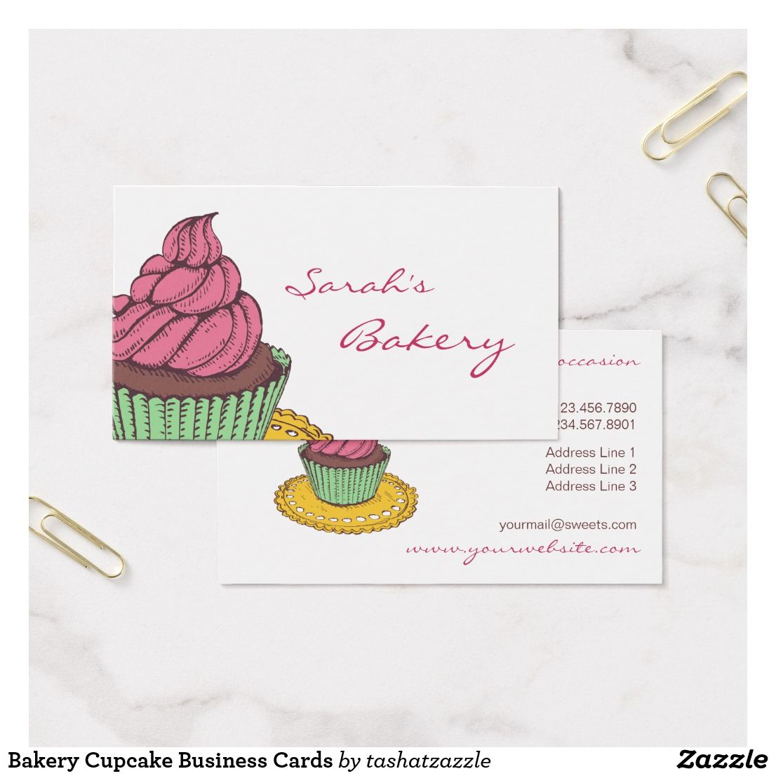 Bakery Cupcake Business Cards | Business | Pinterest | Business cards