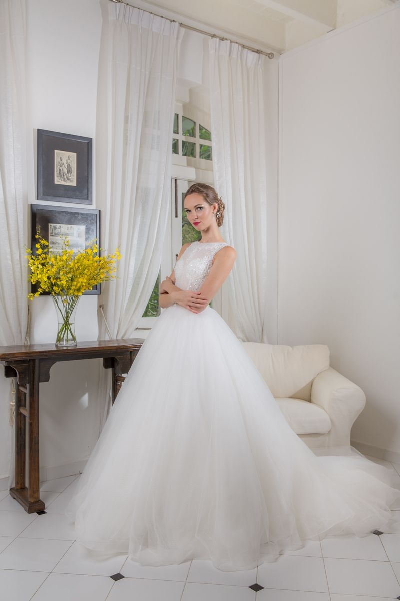 High neck wedding dress lace  High Neck Lace Beading Bodice Ballgown Wedding Dress  Gowns