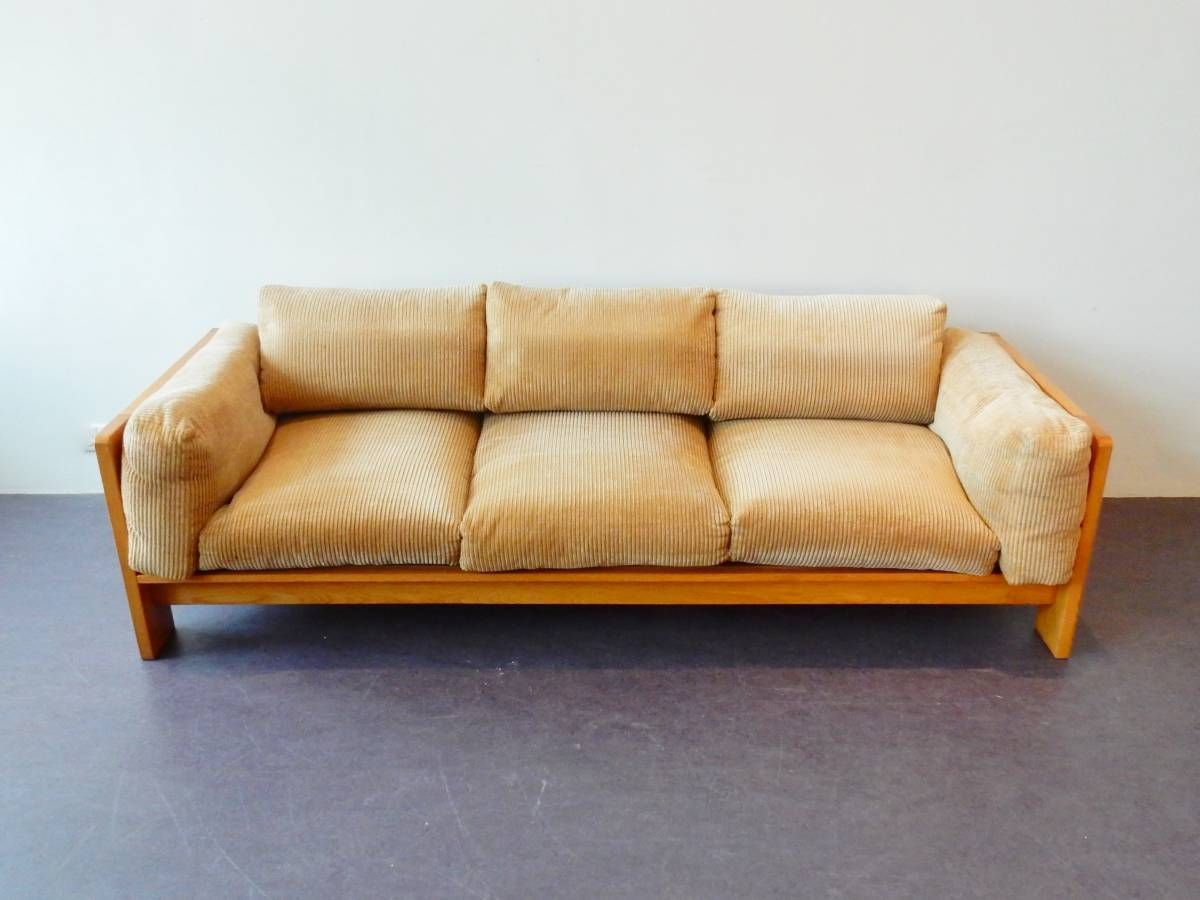 Bastiano Style Comfortable Midcentury Sofa With Down Feather