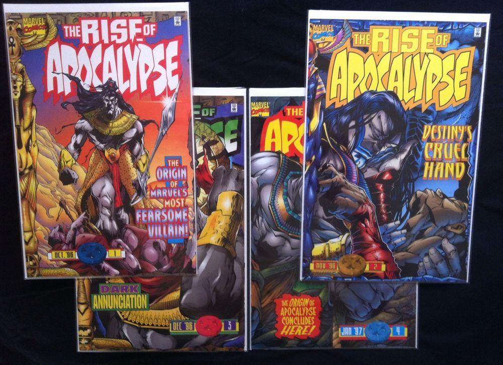 rise of apocalypse 1 4 2 3 1st print origin marvel comics lot