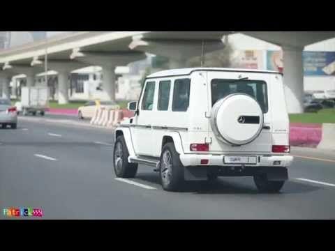Sheikh Mohammed Bin Rashid Al Maktoum G63 Amg Mercedes No 1 سيارة حاكم دبي أثناء ذهابه إلى المول Road