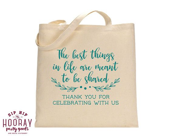 party favor bag thank you favor bags totes bridal party gifts