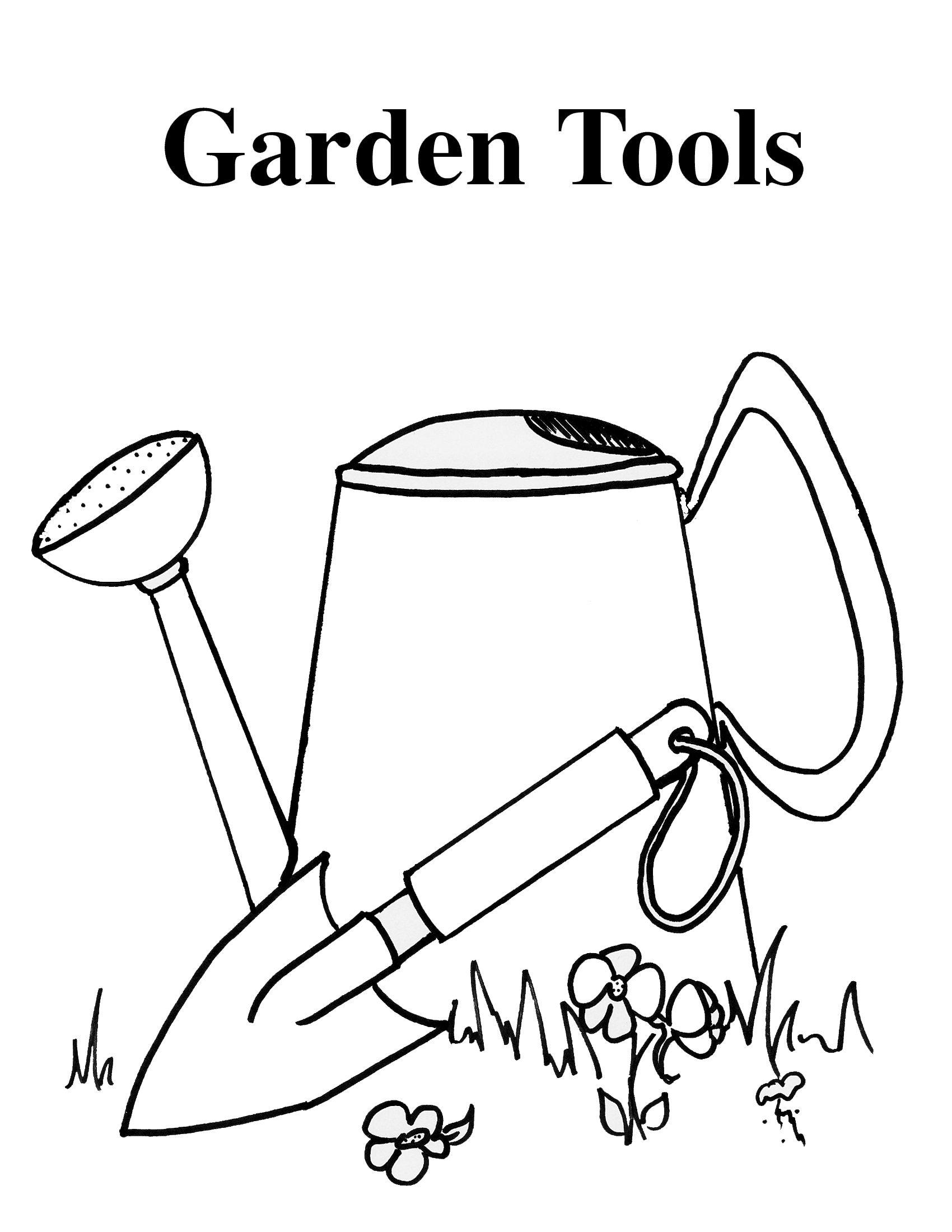 Garden Tools Copy Jpg 1700 2200 Coloring Pages Garden Tools Garden Coloring Pages