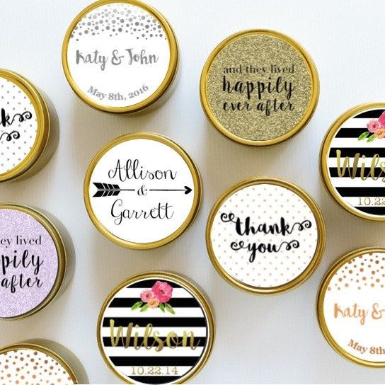 50 X Custom Wedding Favour Soy Candles Large Deep Travel Tin Candle Gift Personalised