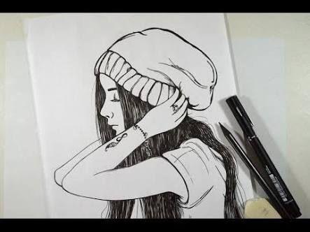 desenho de menina tumblr - Pesquisa Google
