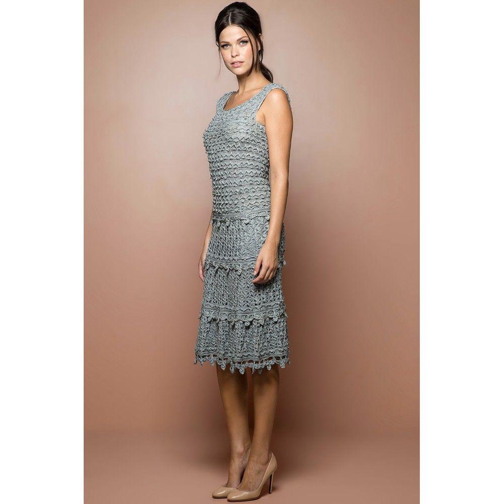 US$ 3,490.00 - Sky Villeneuve Crochet Dress - Vanessa Montoro USA - vanessamontorolojausa