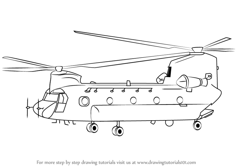Military things to draw Learn How to Draw a Boeing CH47
