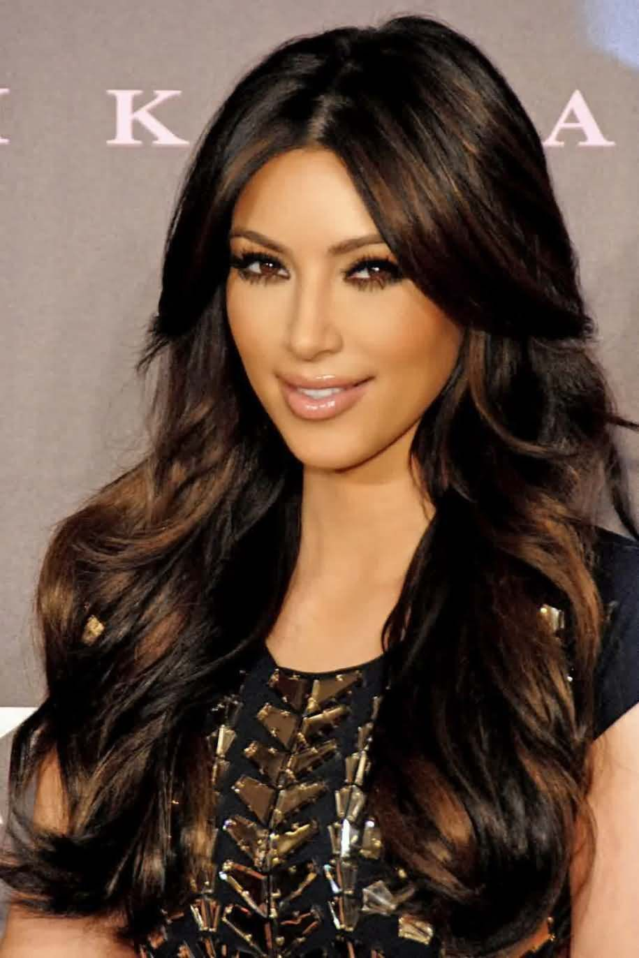 Hairstyles 2016 dark hair - Kim Kardashian Hairstyle Two Tone Look Premier Charming Long Curly Synthetic Hair Lace Front Wig About 24 Inches