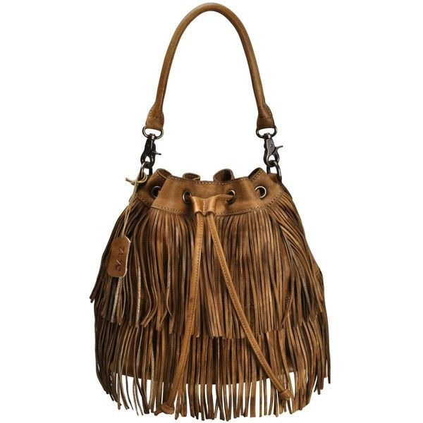 68a9dcee1a ZLYC Women Handmade Dip Dye Leather Bohemian Fringe Tassel Drawstring...  ( 215) ❤ liked on Polyvore