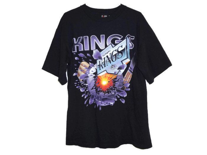 Vintage 90s LA Kings T-Shirt - XL - Los Angeles Kings - NHL - 90s Clothing  - Hockey - Sports Jersey - Hockey Jersey - by BLACKMAGIKA on Etsy fea471225
