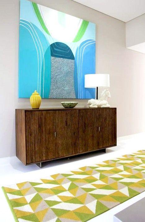 A lovely rug from ilovemyrug.com Rug idea for bright wall art