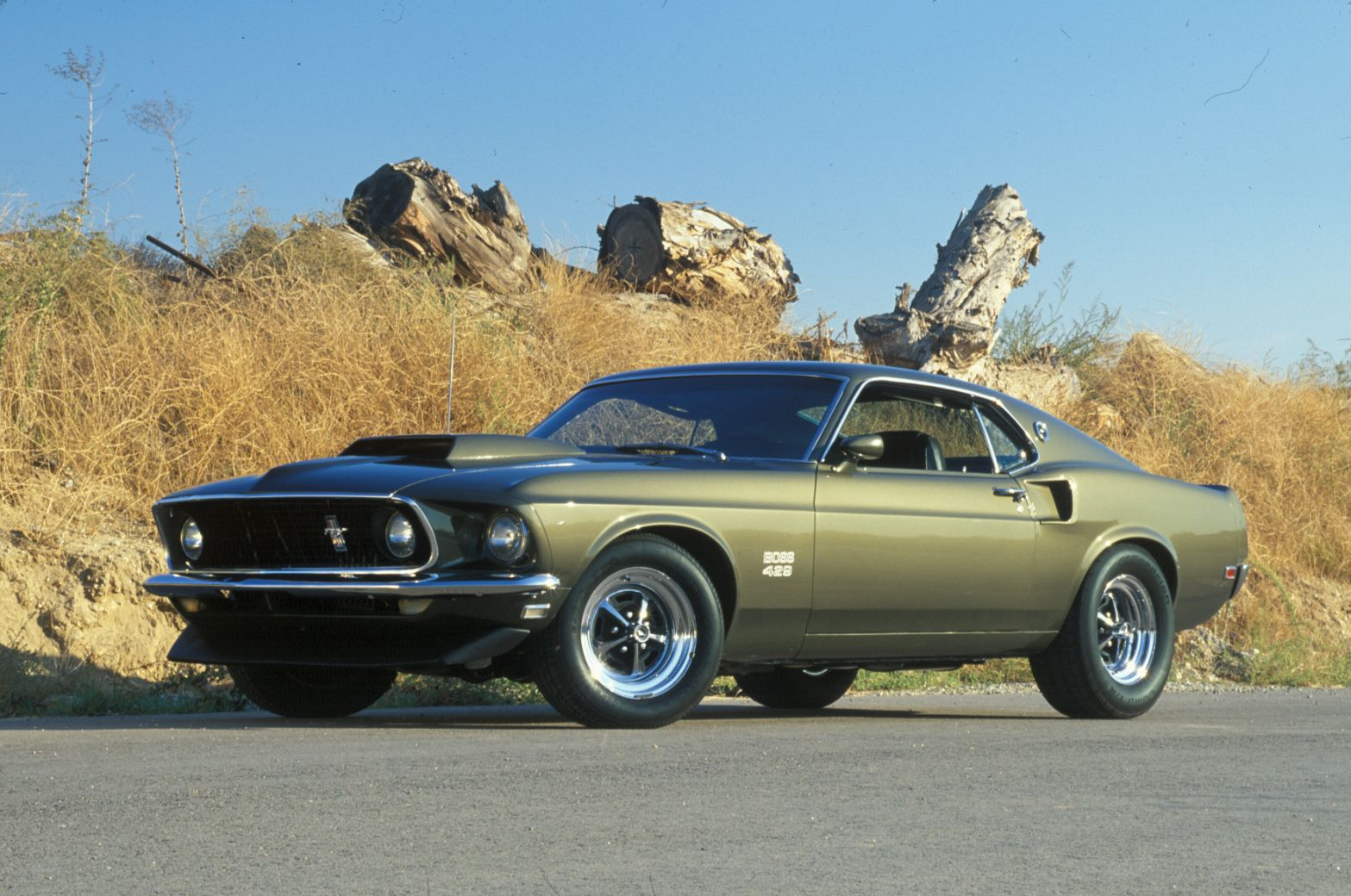 1969 Ford Mustang Shelby Gt350 And In Army Drab Green