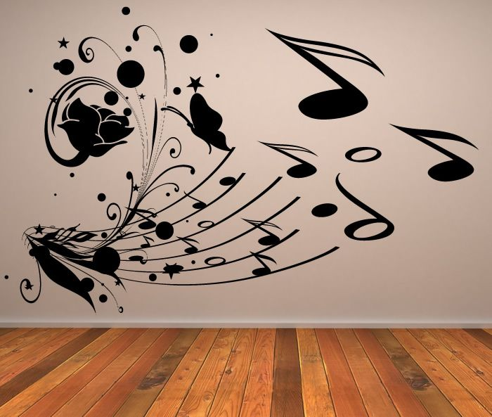 Musical Collage Music Notes Wall Stickers Wall Art Decal Transfers
